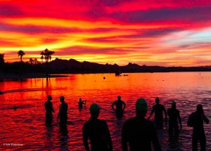 HITS Havasu triathlon sunrise at swim1