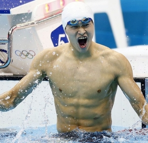 Sun Yang, London Olympics. Photo by Rob Schumacher-USA TODAY Sports.