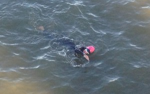 Joan McGue IMAZ 2014 swim