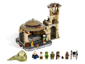 Ahh, but a LEGO Jabba's palace is made of bricks. So, there you go.