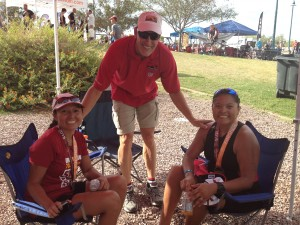 MaLorie Charley, Coach Bill Wilson, Amber Manuelito