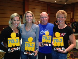 Mirinda Carfrae, Jane Esahak-Gage, Dwight Lundell, Sharon Johnston  Ironman 70.3 Monterrey (Mexico)