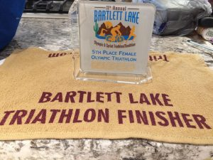 Bartlett Lake Finisher Trophy Tali Toncray 5th overall female Apr 16