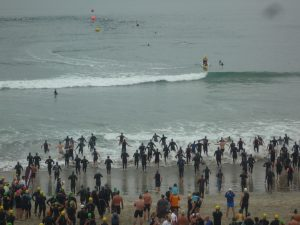 Open water swim start Carlsbad July 11, 2010